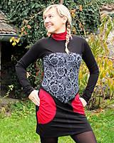 Šaty - PONT DES ARTS... mix dress/změna materiálu - 10321360_