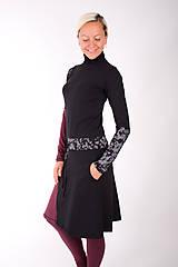 Šaty - PLACE DU CARROUSEL... mix dress / změna materiálu - 10321398_