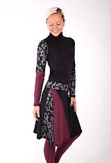 Šaty - PLACE DU CARROUSEL... mix dress / změna materiálu - 10321400_