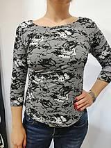 Tričká - Tričko vzor krajky - 10321307_