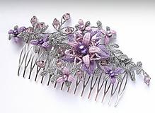 Ozdoby do vlasov - Hřeben Vanesa fialkový - 10323105_