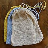 Úžitkový textil - Eko vrecko...žlté - 10323911_