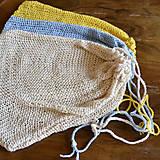 Úžitkový textil - Eko vrecko...žlté - 10323912_