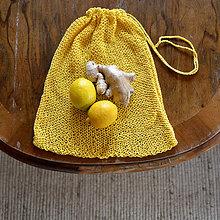 Úžitkový textil - Eko vrecko...žlté - 10323910_