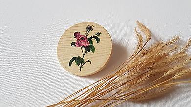 Odznaky/Brošne - Brošňa : Ruža šípová - 10322025_
