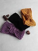 Čiapky - Dámske pletené čelenky - rôzne farby - 10323437_