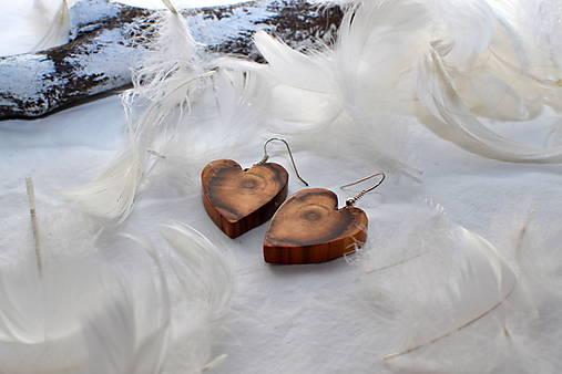 Náušnice - Mapa v srdci