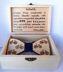 Doplnky - Drevený motýlik - bicykel I - 10323196_