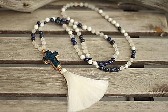 Náhrdelníky - Mala náhrdelník s achátovou drúzou - 10322015_
