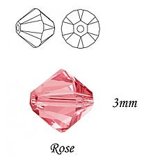 Korálky - SWAROVSKI® ELEMENTS 5328 Xilion Bead - Rose, 3mm, bal.15ks - 10321695_