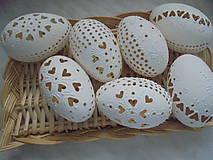 Dekorácie - Veľkonočné biele kraslice - 10322483_