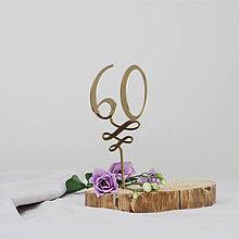 Dekorácie - Guľatiny zápich na tortu - 10324226_