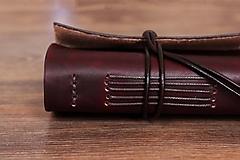 Papiernictvo - Kožený zápisník - Bashforth - 10321877_
