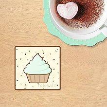 Dekorácie - Stracciatella potlač na koláčik - mentolový cucpcake - 10323366_