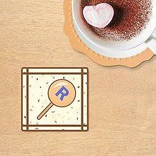 Dekorácie - Stracciatella potlač na koláčik - pomarančová lízanka s vlastným menom - 10323381_