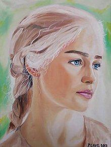 Obrazy - Olejomaľba - Portrét - Emilia Clarke - 10326120_