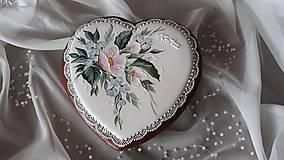 Dekorácie - Srdiečko s malovaným motívom - 10324519_