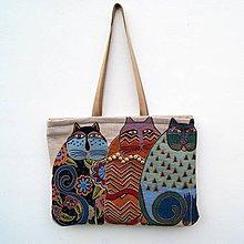 Veľké tašky - Velká taška Boho Cats - 10325845_