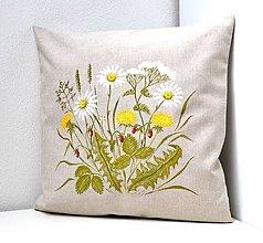 Úžitkový textil - Vankúš-ručne maľovaný-Radosti leta - 10325466_