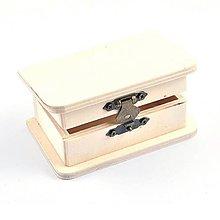 Polotovary - Drevená krabička mini, s bočným okrajom, 10x6 cm - 10325616_