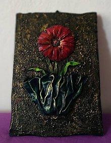 Obrazy - Kvet, obraz na dreve - 10326839_