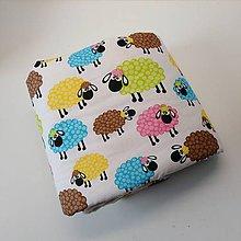 Textil - Detska deka veselé ovečky - 10325908_