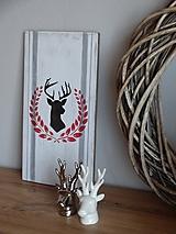 Dekorácie - Drevená tabuľka biela - 10327046_