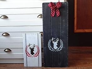 Dekorácie - Drevená tabuľa čierna - 10327052_