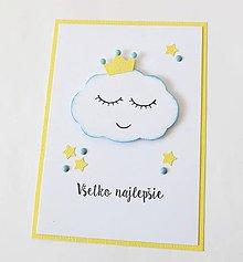 Papiernictvo - pohľadnica s obláčikom - 10325518_