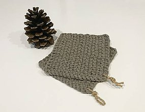 Úžitkový textil - Pletená podložka - šedá - 10326789_