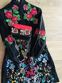 "Šaty - FLORAL FOLK "" Embroidery "", spoločenské šaty - 10324610_"