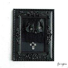 Dekorácie - Gotická dekorácia-rámik s aplikáciou II. - 10324617_