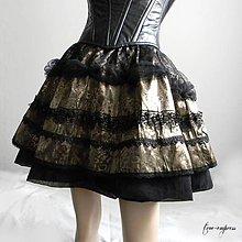 Sukne - Elegantná gotická sukňa - 10324827_