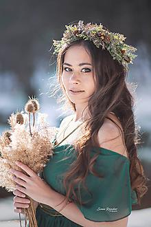 Ozdoby do vlasov - Kvetinový venček lesná víla - 10326352_