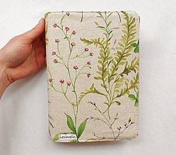 Papiernictvo - Obal na knihu - Pápraď a kvety - 10325653_