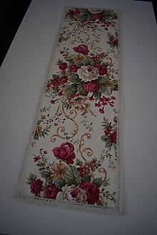 Úžitkový textil - STŘEDOVÝ BĚHOUN ...květy - 10326796_