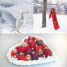 Dekorácie - snehulienka dekoračné srdiečko - 10327258_