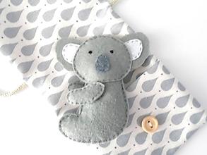 Hračky - Drobnosti v kapsičke pre chlapcov (Koala) - 10325229_