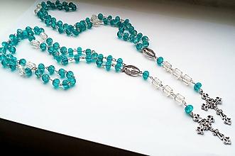 Iné šperky - Ruženec v modrej farbe - 10325464_