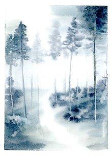 Obrazy - print Les po dazdi - 10326038_