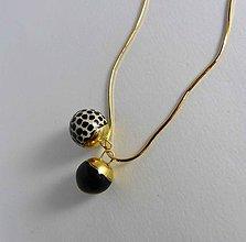 Náhrdelníky - Tana šperky - keramika/zlato - 10324753_