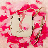 Detské tašky - Plameniačik (Biela) - 10326677_