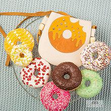 Kabelky - Donut-ková (16x16cm - Biela) - 10326643_