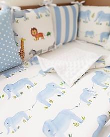 Textil - detská deka sloníci - 10324469_