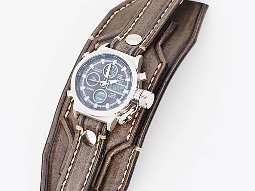 Infantry čierne kožené hodinky III d76f155a62b