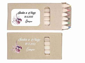 Darčeky pre svadobčanov - Svadobné farbičky Kity - darček pre hostí - 10328002_