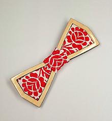Doplnky - Pánsky drevený motýlik - 10324681_