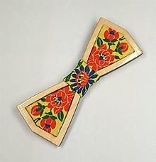 Doplnky - Pánsky drevený motýlik - 10324699_