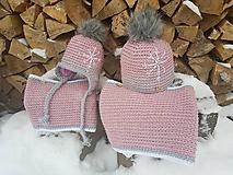Detské čiapky - Set MAMA + DCÉRKA - 10326185_