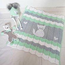 Textil - Detská deka MAČIATKO - 10325318_
